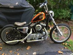 My sons #Ironhead #HD  #workinprocess #bobber #Ironhorse #ride #riding  #kickstandup