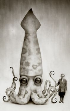 Victorian squid portrait... not something you see every day.