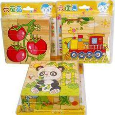 Mainan Puzzle Kubus Kayu   Mainan edukatif dari kayu yang setiap sisi kubus nya dapat menjadi gambar yg utuh Sangat bermanfaat utk merangsang motorik anak, kognitif, bahasa, melatih daya kreatifitas dan ketepatan