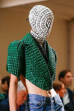those are stone beads! maison martin margiela couture f/w2103