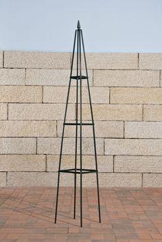 Rosensäule Rankgitter  Pyramide, Metall, dunkelgrün