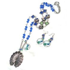 Tutorials   Peacock Long Beaded Necklace Earring Set   Beading & Jewellery Making Tutorials