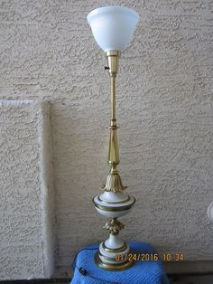 Stiffel Mid-Century Torchiere Table Lamp Hollywood Regency Style, Shade Included