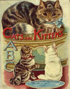 """(""""Cats and kittens ABC"""", Father Tuck's Nursery Tales series, 1890s - cover)"""
