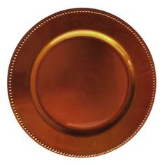 Wholesale Event Solutions - Case of 24 Copper Round Beaded Charger Plates @ $2.75/pc, $66.00 (http://www.eventswholesale.com/case-of-24-copper-round-beaded-charger-plates-2-75-pc/)