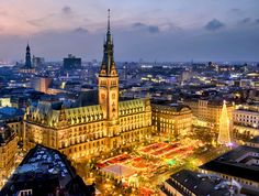 Aerial view of the Christmas Market in Hamburg, Germany | 10 Magical Christmas Markets in Europe