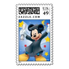 Mickey Graduation Postage