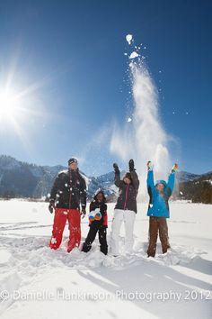 family photos snow