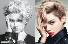 Cool hair inspired by Madonna
