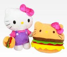"Hello Kitty Reversible 8"" Plush: Hamburger"