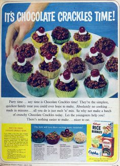 CHOCOLATE CRACKLES. 1964.