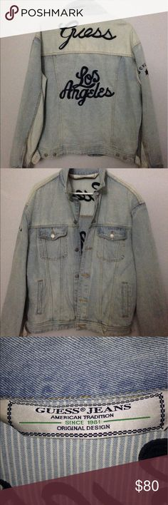 Guess Jeans Original Design Denim Jacket Size L. Used once, excellent condition. Guess Jackets & Coats Jean Jackets