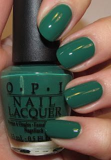 """OPI """"Don't Mess with OPI"""" #pantone #emerald #green"""