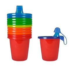 The First Years Take & Toss Spill-Proof 7 Ounce Cups 6 ea Assorted Colors
