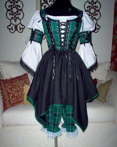 Plaid Pirate Renaissance Steampunk Costume
