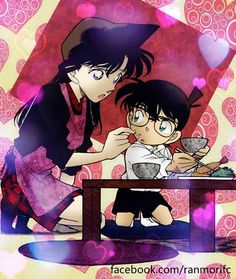 --Ran Mori and Conan--