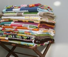 I want a big freaking stack of quilts.
