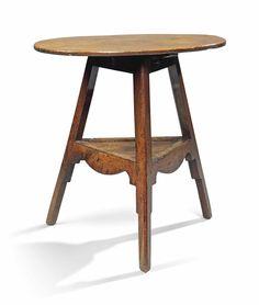 George III Oak Two-Tier Cricket Table
