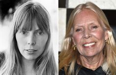 Music artists of the '70s: Then and now   Joni Mitchell (1972, 2014)