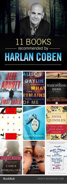 Harlan Coben recommends these 11 books from a wide variety of genres.