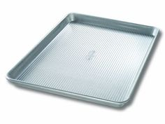 Usa Pan Nonstick X Quarter Sheet Pan - This jelly roll pan is great to have on hand when you're in the mood for homemade jelly rolls. Made of aluminized steel, the thickness of this jelly roll pan allows even heat distribution and maximum service life. Homemade Jelly, Homemade Cookies, Baking Sheet, Baking Pans, Half Sheet Pan, Jelly Roll Pan, Jelly Rolls, Thing 1, Nordic Ware