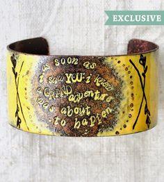 Grand Adventure Enamel Bracelet by Bullfinch & Barbury Enamelists on Scoutmob Shoppe