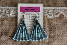 Items similar to Handmade Vintage Monopoly Money upcycled-recycled earrings, Blue on Etsy Monopoly Crafts, Monopoly Money, Monopoly Theme, Monopoly Pieces, Old Board Games, Game Boards, Christmas Craft Fair, Craft Stalls, Little Golden Books
