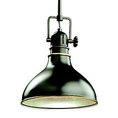 "Mini Pendant No. 2664 by Kichler. $153 lumens.com 10"" diameter old bronze"