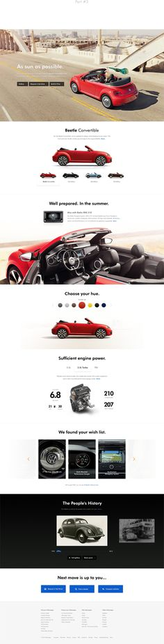 Volkswagen Website Redesign by Aleš Nešetřil, via Behance