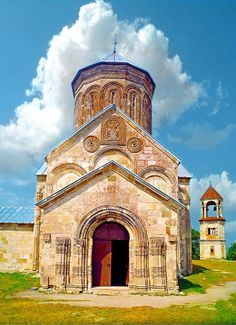 Nikortsminda Cathedral is a Georgian Orthodox Church, located in Nikortsminda, #Racha region of #Georgia. Nikortsminda was built in 1010-1014 during the reign of Bagrat III of Georgia and was repaired in 1634 by the King Bagrat III of Imereti. The Cathedral has a form of five apses from inside and the massive dome rest of the on the half-pillar shaped apse projections. Stylistically, Nikortsminda reflects the Georgian cross-dome style of architecture.