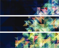 Vector Art : Technology concept horizontal banner set