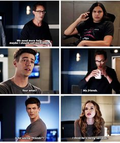 Besides team Flash, you have no real friends, Harry! I Love Series, Cw Series, Superhero Shows, Superhero Memes, Supergirl Dc, Supergirl And Flash, The Flashpoint, Flash Funny, Flash Barry Allen