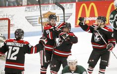 04/06/13 vs. Cedar Rapids RoughRiders. Courtesy of Tiffany Rushing / Courier Staff Photographer. Go Hawks Go!