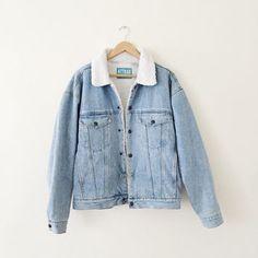 Shop Sherpa Denim Jacket on Wanelo