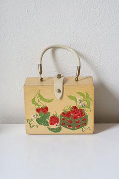 Cute as a Button Enid Collins Strawberry Box Bag  by dingaling, $36.00