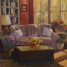 """Daily Paintworks - """"Morning Room"""" - Original Fine Art for Sale - © Libby Anderson"""