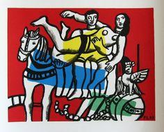 Fernand LEGER : Lithographie : Le cirque