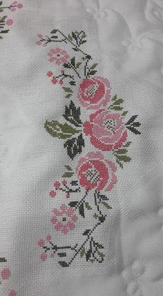 Hand Work Embroidery, Cross Stitch Embroidery, Cross Stitch Patterns, Crochet Patterns, Palestinian Embroidery, Cross Stitch Kitchen, Bargello, Cross Stitch Flowers, String Art