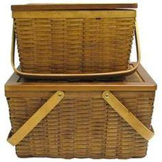 Thecraftycrocodile Brown Woodchip Baskets with Lids & Handles