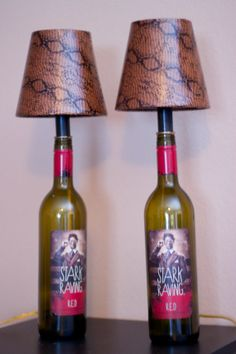 Recycled wine bottle lamp by DesignedByKathy on Etsy, $85.00