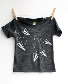 Paper Airplane Shirt Kids Birthday Party Valentines by EarthCadets