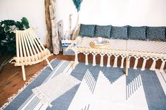 Modern Macrame Cotton Rope Cot Bed Daybed - HOLY MOLY
