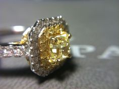 #Yellowdiamond #engagementring on #hydeparkjewelers #instagram