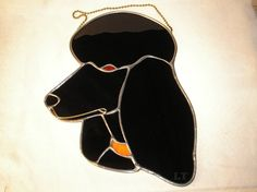 Stained glass black Poodle