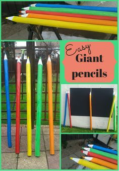 How to make easy giant pencils for the garden - lifeasweknowit.co.uk