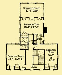 Architectural House Plans : Floor Plan Details : Plantation Style with a View