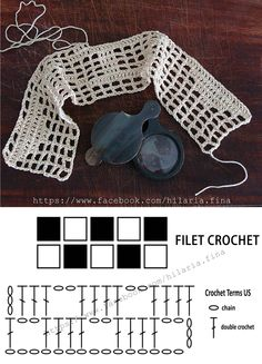 Filet crochet is worked entirely in double crochet and chain stitches to create a grid. It's actually a perfect crochet technique for beginners. ❥ 4U hilariafina  http://www.pinterest.com/hilariafina/