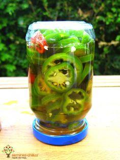 Nakládané Jalapeno chilli papričky Chilli Recipes, Preserves, Pickles, Cucumber, Ale, Chili, Food, Preserve, Chile