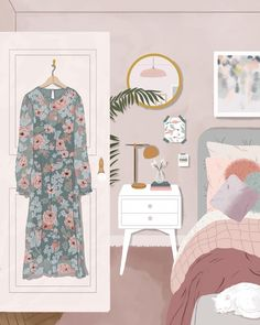 draw on the bed illustration Custom Bedding sets & Bathroom dessiner sur l'illustration du lit ; Cute Wallpapers, Wallpaper Backgrounds, Buch Design, Poster S, Design Your Home, Cute Illustration, Aesthetic Art, Victorian Homes, Cute Art