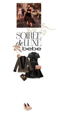 """Soirée de Luxe with bebe Holiday: Contest Entry"" by cultofsharon ❤ liked on Polyvore featuring Bebe, Bobbi Brown Cosmetics, Laurence Dacade, Louis Vuitton and vintage"